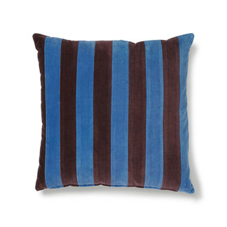 HKliving striped cushion velvet blue/purple (50x50)
