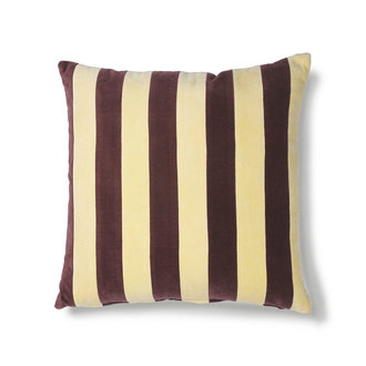 HKliving striped cushion velvet yellow/purple (50x50)