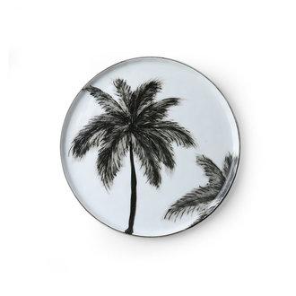 HK living bold & basic ceramics: porcelain side plate palms