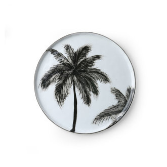 HKliving Porselein side plate Palms