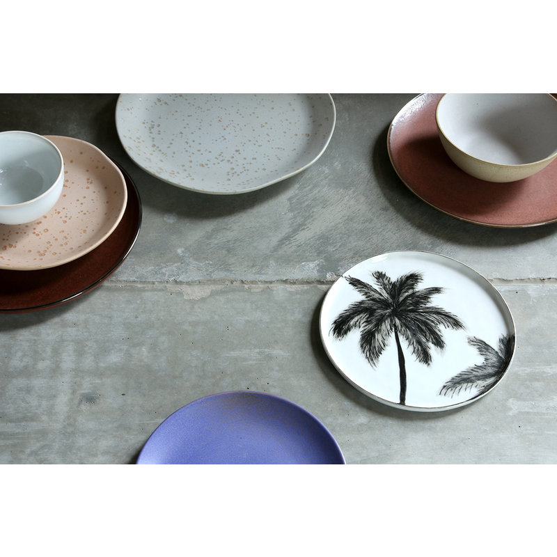 HKliving-collectie bold & basic ceramics: porcelain side plate palms