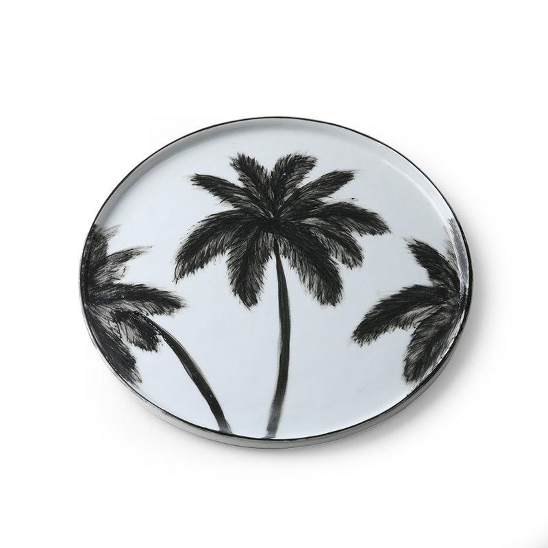 HK living-collectie Porcelein dinerbord Palms