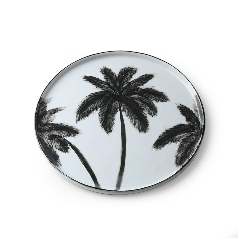 HKliving-collectie Porcelein dinerbord Palms