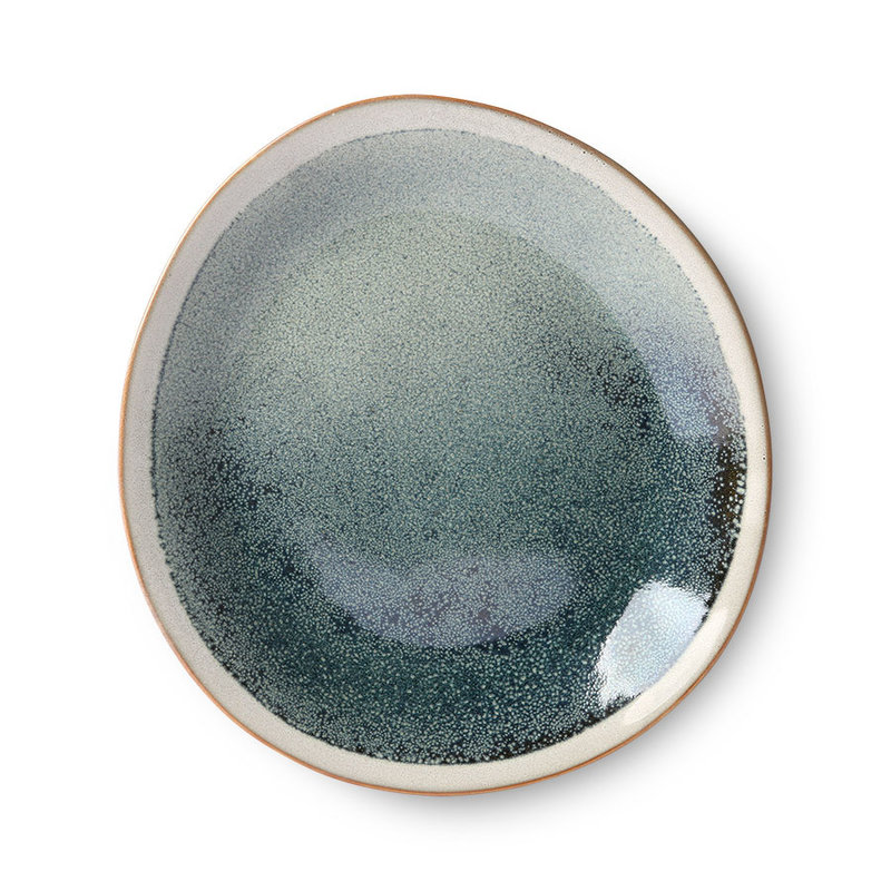 HKliving-collectie ceramic 70's side plate: mist
