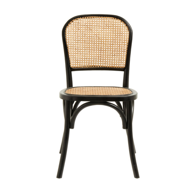 Nordal-collectie WICKY chair w. wickerwork, black