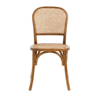 Nordal WICKY chair w. wickerwork,  brown
