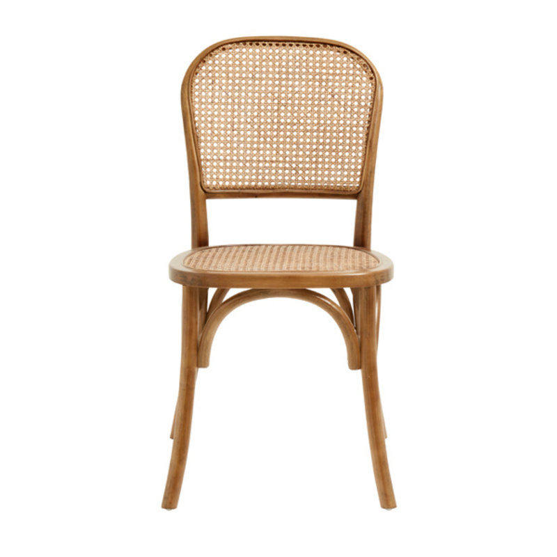 Nordal-collectie WICKY chair w. wickerwork,  brown