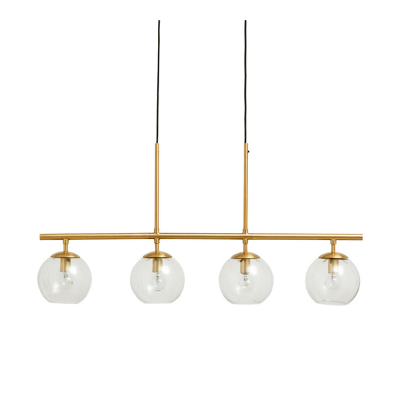 Nordal-collectie GLOBE lamp, 4-in-one, brass, hanging