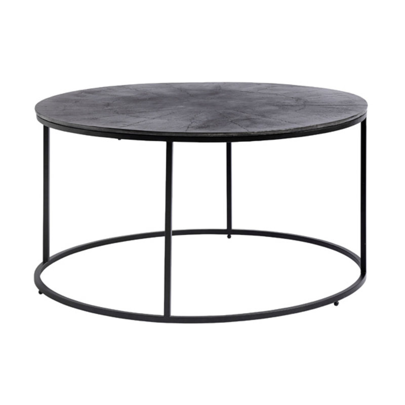 Nordal-collectie Coffee table, round, black oxidized