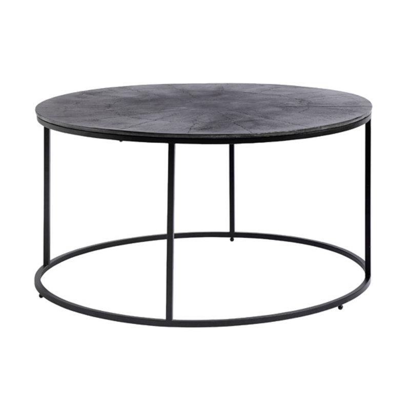 Nordal-collectie Ronde salontafel geoxideerd zwart metaal