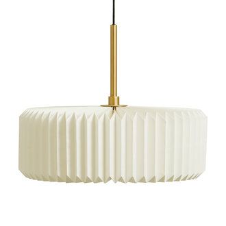 Nordal PRETTY PLEATS hanging lamp, white/gold