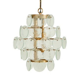 Nordal Hanging lamp, clear glass coins, small
