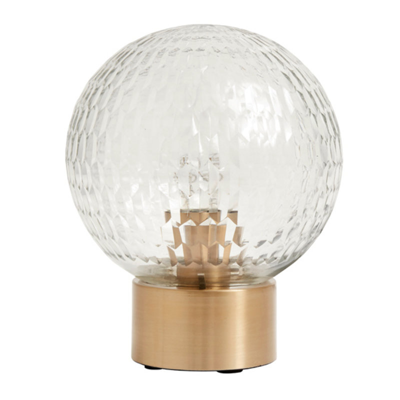 Nordal-collectie Table lamp, brass base w/clear cut glass