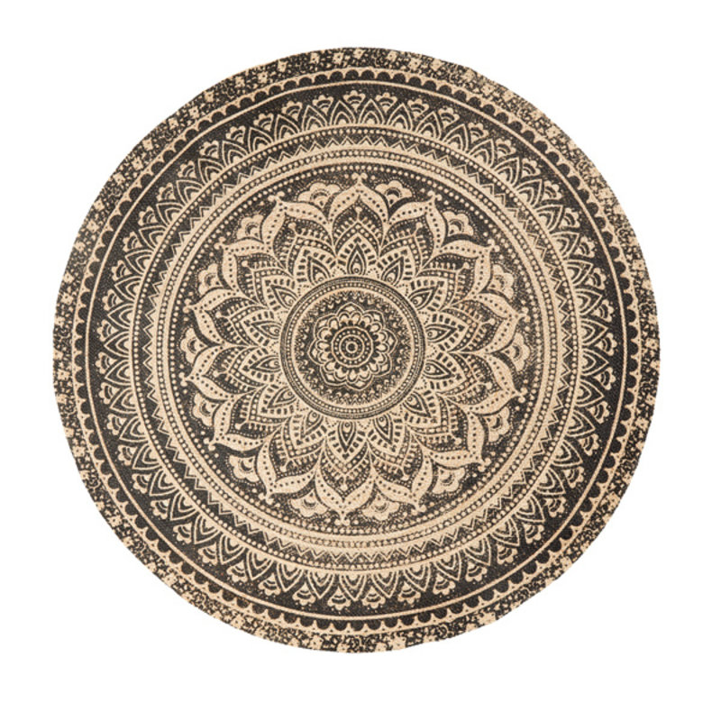 Nordal-collectie MAT round carpet, w. black print
