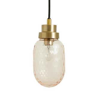 Nordal SATIN hanging lamp, S, rose cut glass