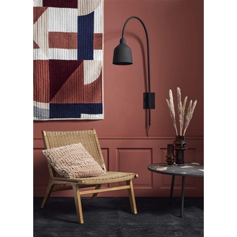 Nordal-collectie Wandlamp CITY mat zwart