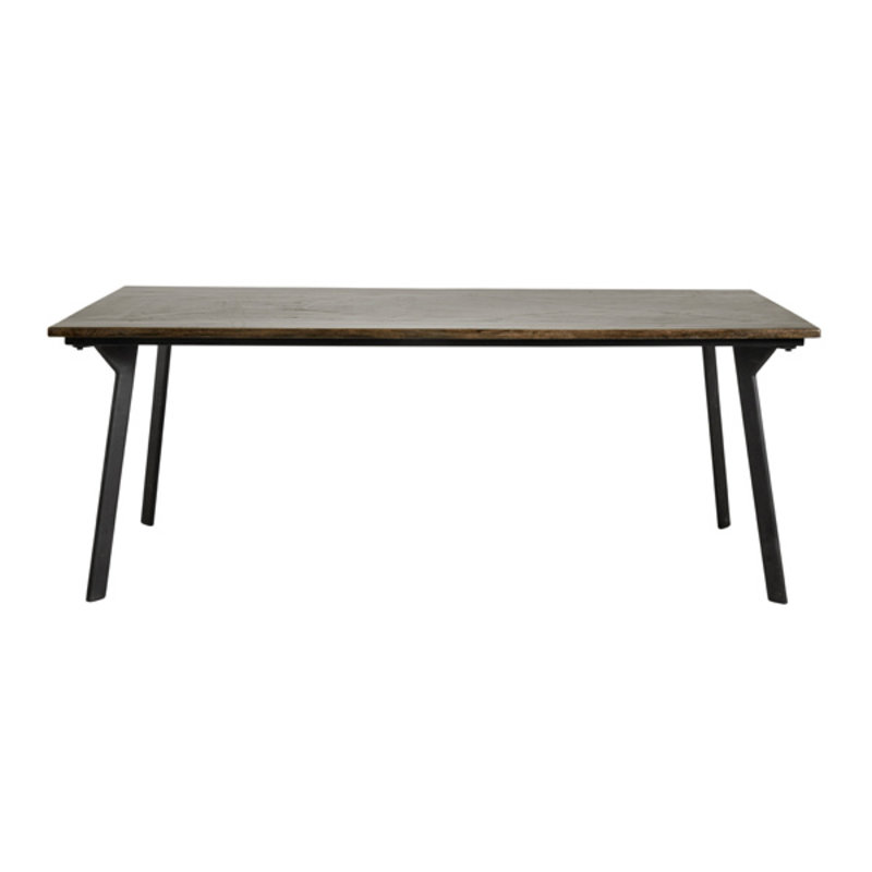 Nordal-collectie Eettafel CHESTNUT shiny bruin