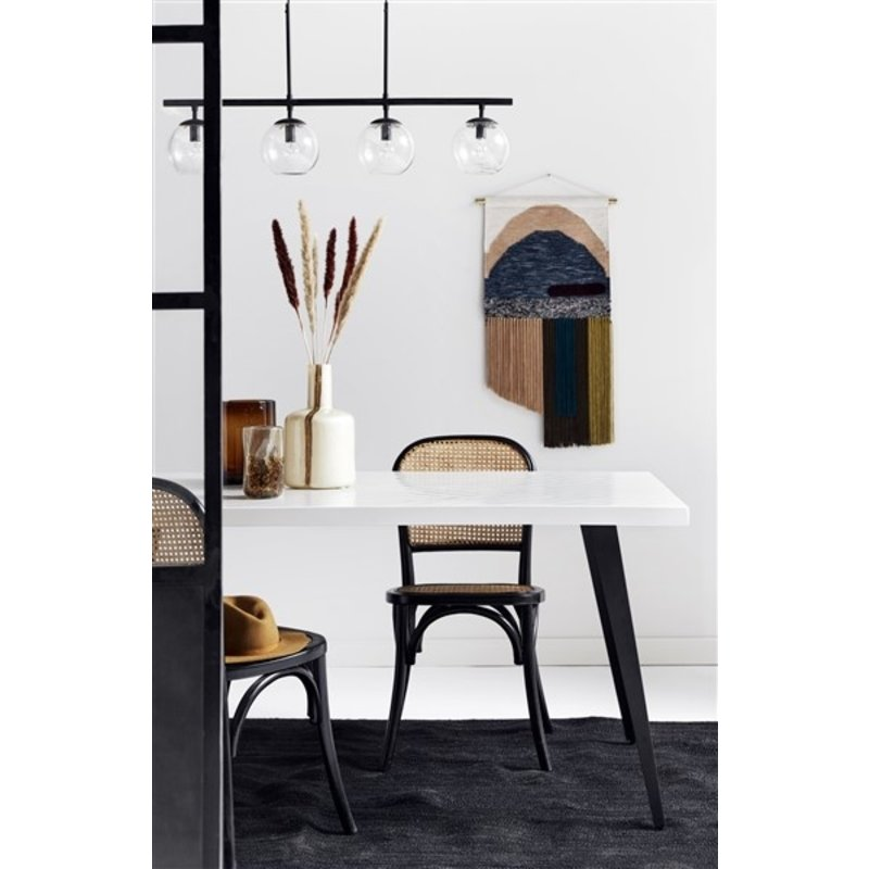 Nordal-collectie GLOBE lamp, 4-in-one, black, hanging