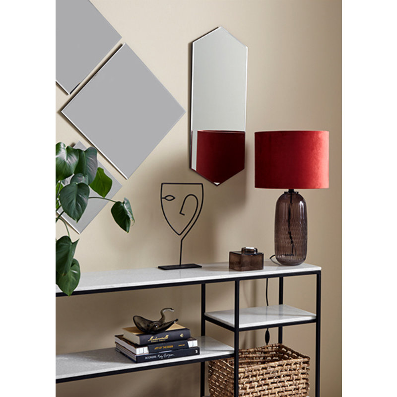 Nordal-collectie White marble console w/black metal
