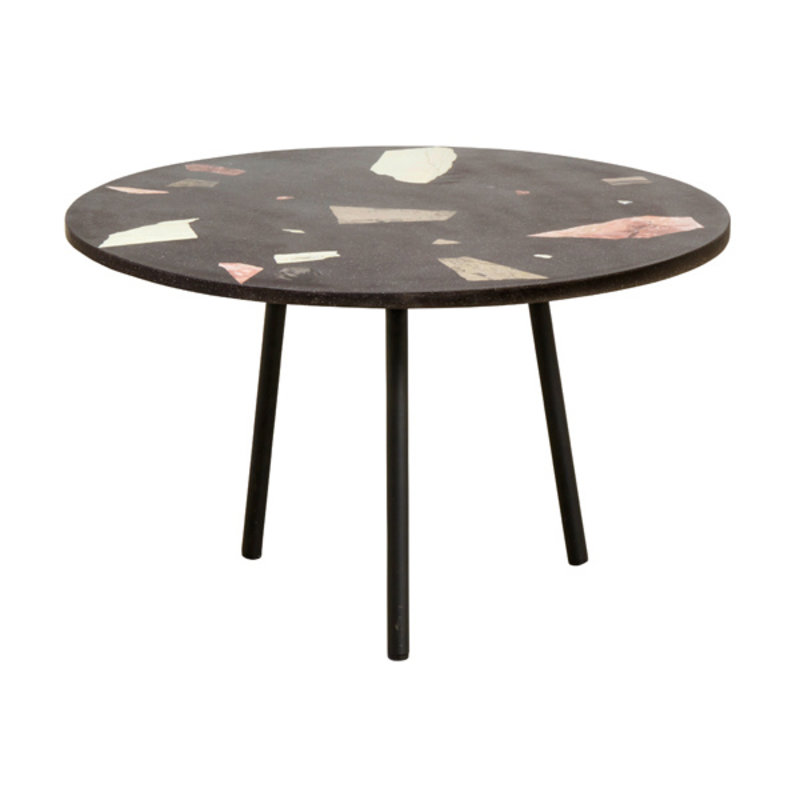 Nordal-collectie TERRAZZO coffee table, black w/colours