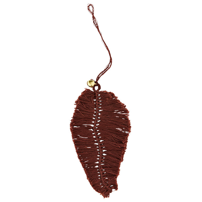 Madam Stoltz-collectie Hanging cotton leaf  Burgundy