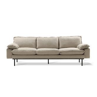 HK living retro sofa: 4-seats, cosy, beige