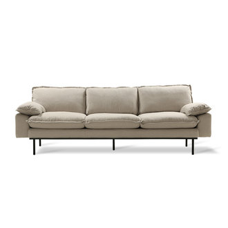 HKliving retro sofa: 4-seats, cosy, beige