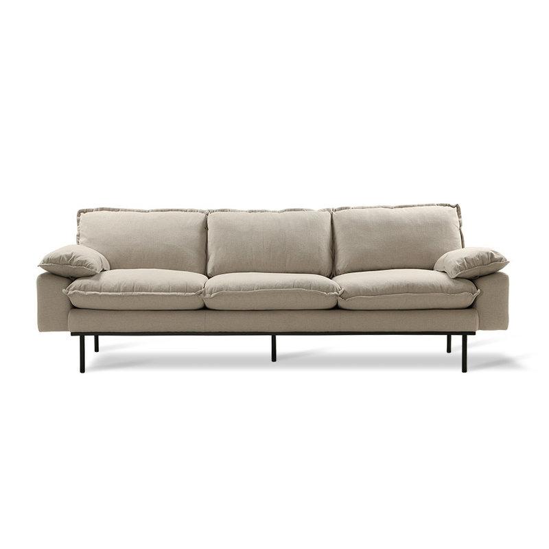 HKliving-collectie retro sofa: 4-seats, cosy, beige