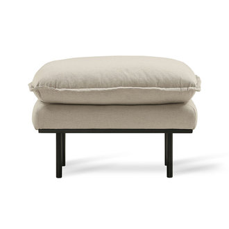 HK living Hocker retro sofa cosy beige
