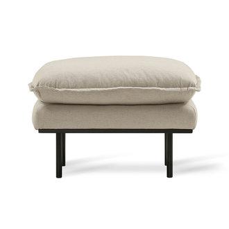 HK living retro sofa hocker, cosy, beige