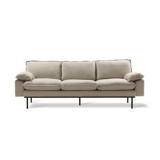 HK living retro sofa 43-seats, cosy, beige