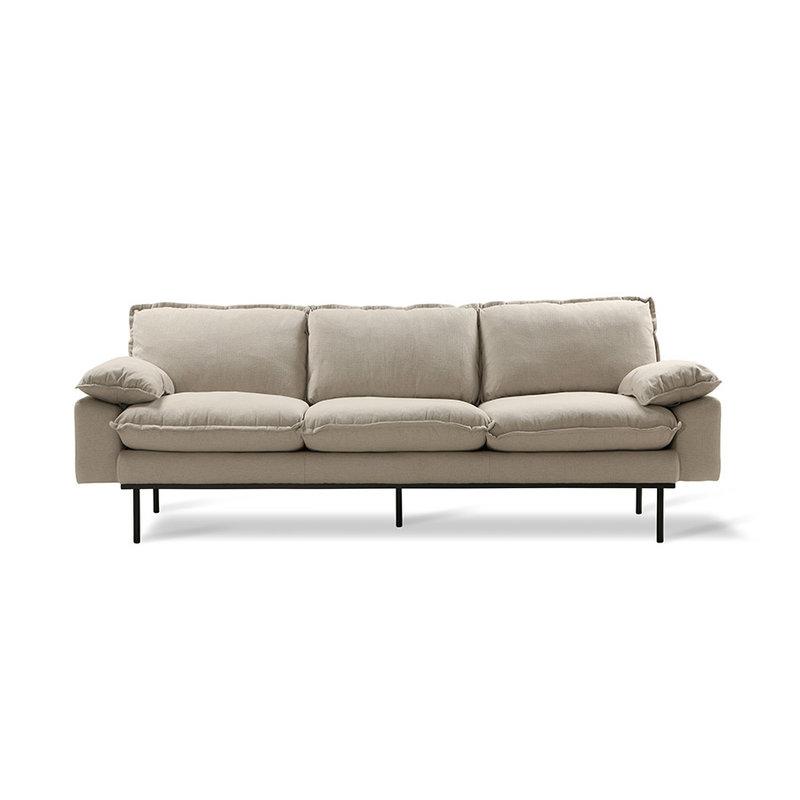 HK living-collectie retro sofa 3-seats, cosy, beige