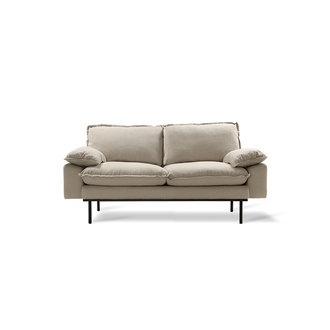 HK living Retro sofa 2-zits bank  cosy beige
