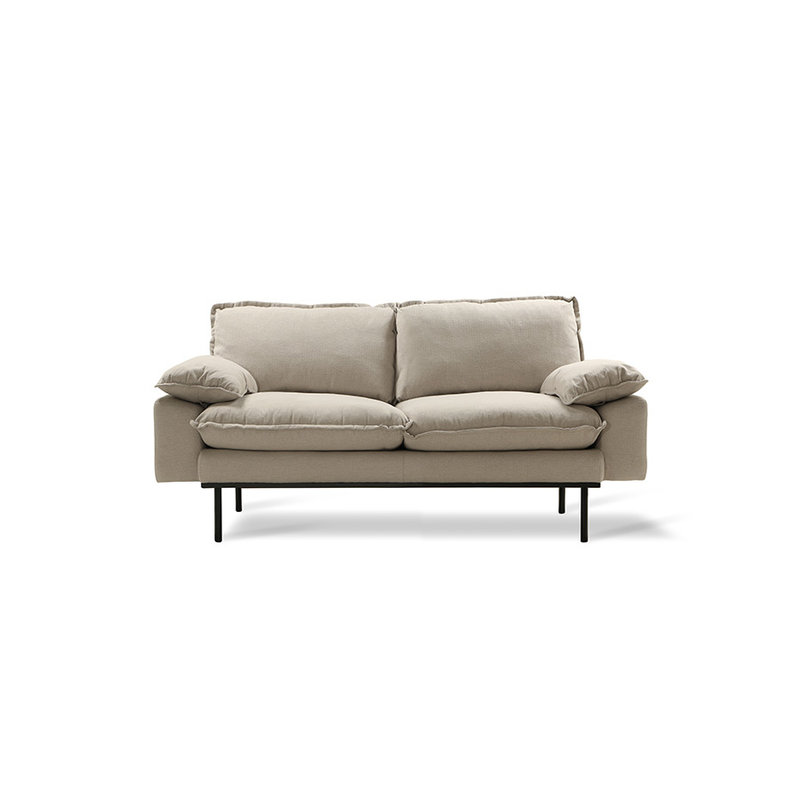 HKliving-collectie Retro sofa 2-zits bank  cosy beige