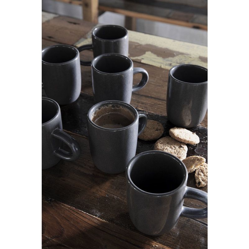 House Doctor-collectie Mug, Imma, Grey/Brown