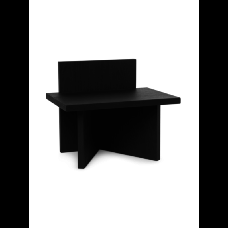 ferm LIVING-collectie Kruk Oblique black stained ash