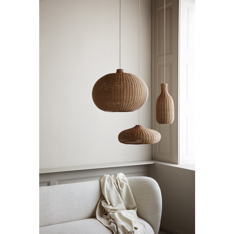 ferm LIVING-collectie Braided Belly Lamp Shade - Natural