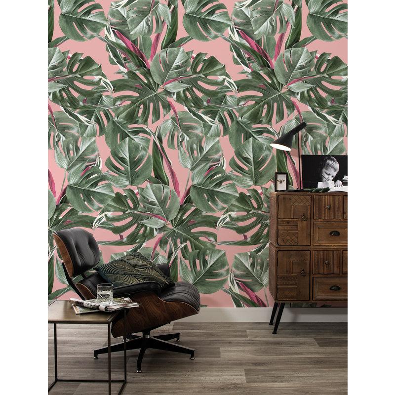 KEK Amsterdam-collectie Wallpaper Botanical leaves, pink
