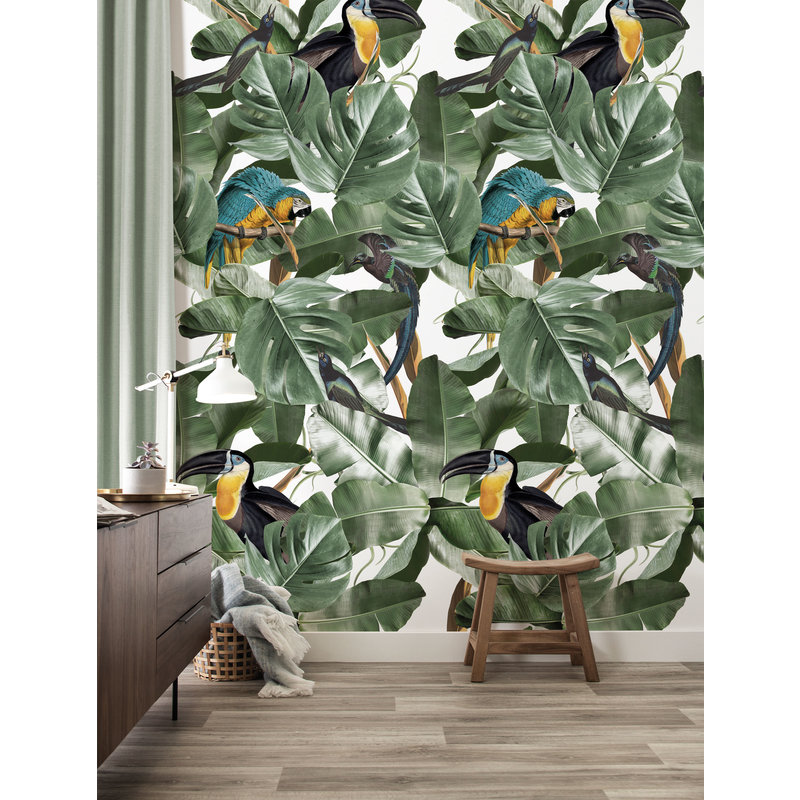 KEK Amsterdam-collectie Wallpaper Botanical Birds, white