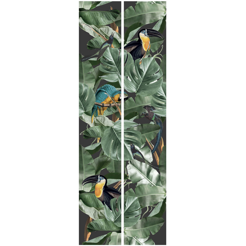 KEK Amsterdam-collectie Wallpaper Botanical Birds,Black