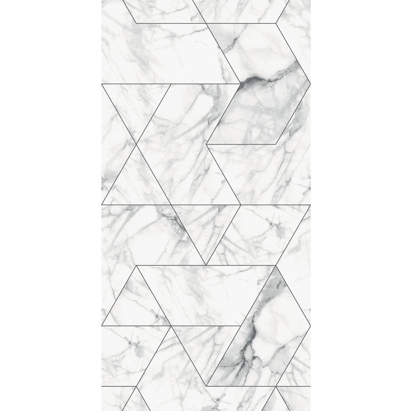 KEK Amsterdam-collectie Wallpaper Marble Mosaic, white