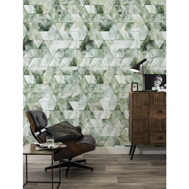 KEK Amsterdam-collectie Wallpaper Marble Mosaic, green
