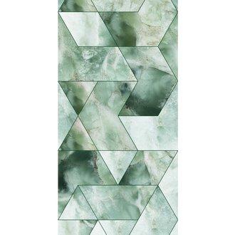 KEK Amsterdam Wallpaper Marble Mosaic, green