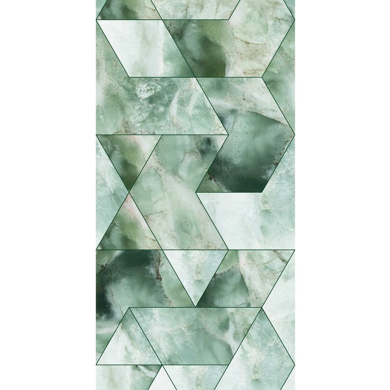 KEK Amsterdam-collectie Behang Marmer Mosaic, green