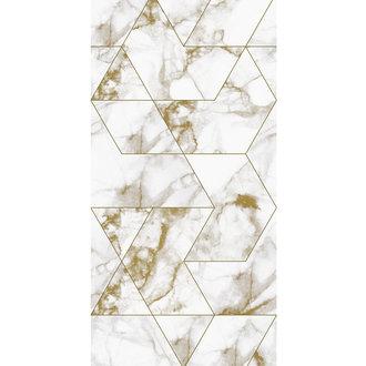 KEK Amsterdam Wallpaper Marble Mosaic, gold