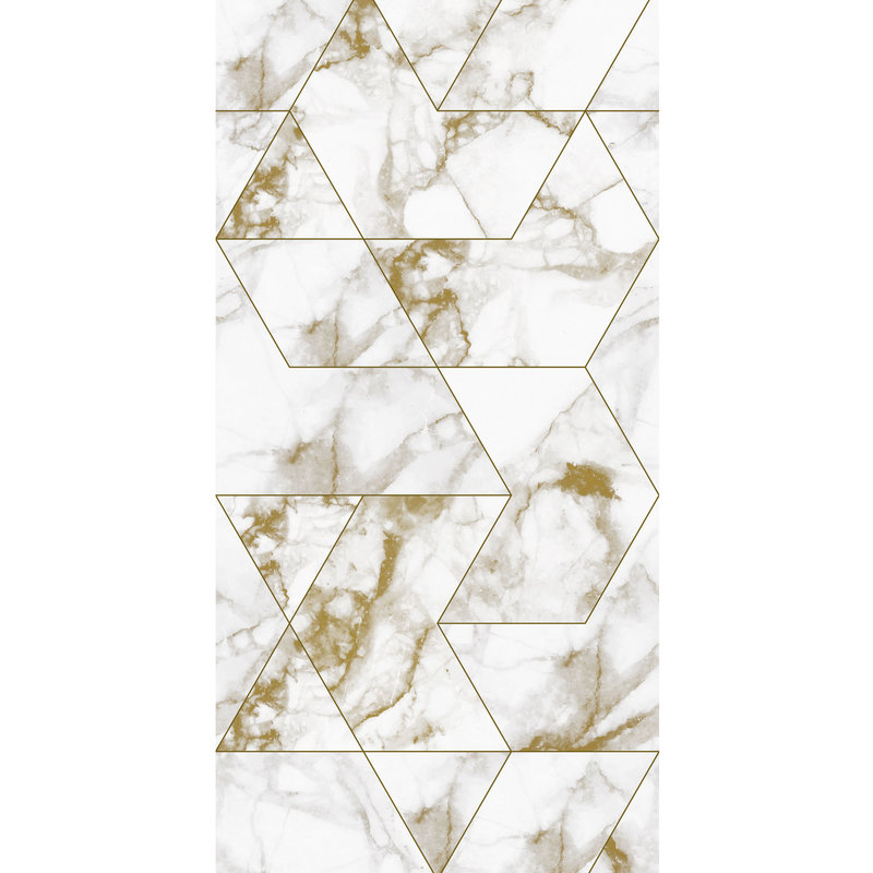 KEK Amsterdam-collectie Behang Marmer Mosaic, gold