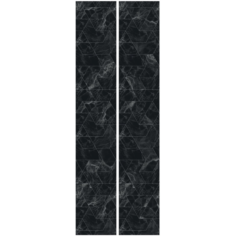KEK Amsterdam-collectie Wallpaper Marble Mosaic,Black