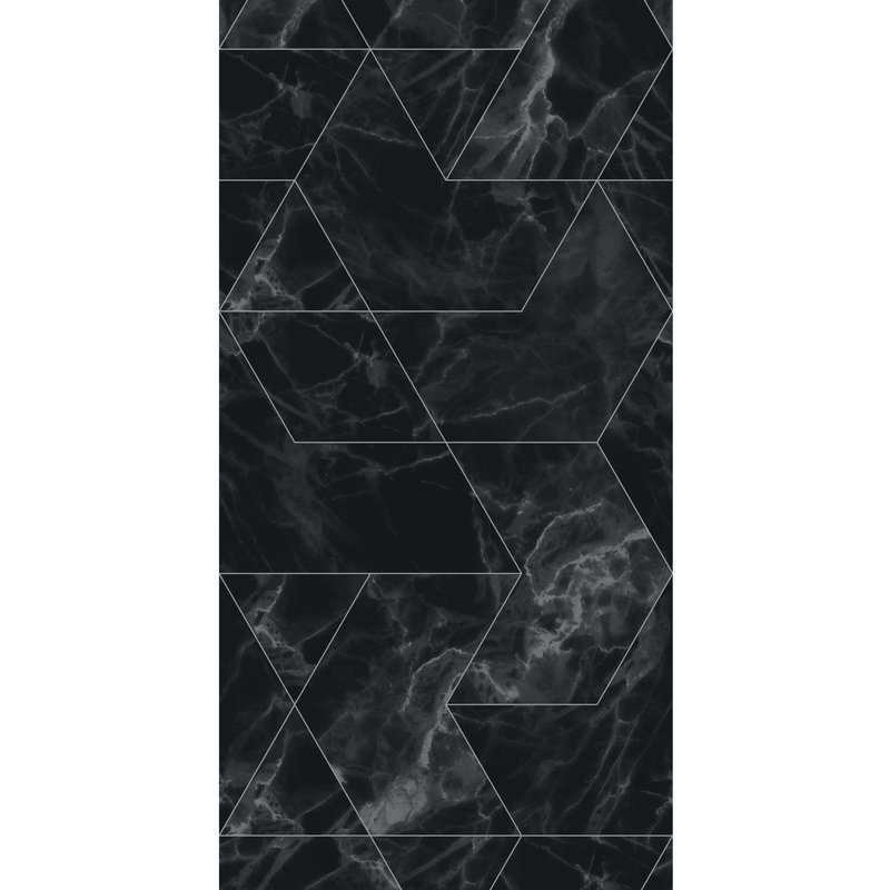 KEK Amsterdam-collectie Behang Marmer Mosaic,Black