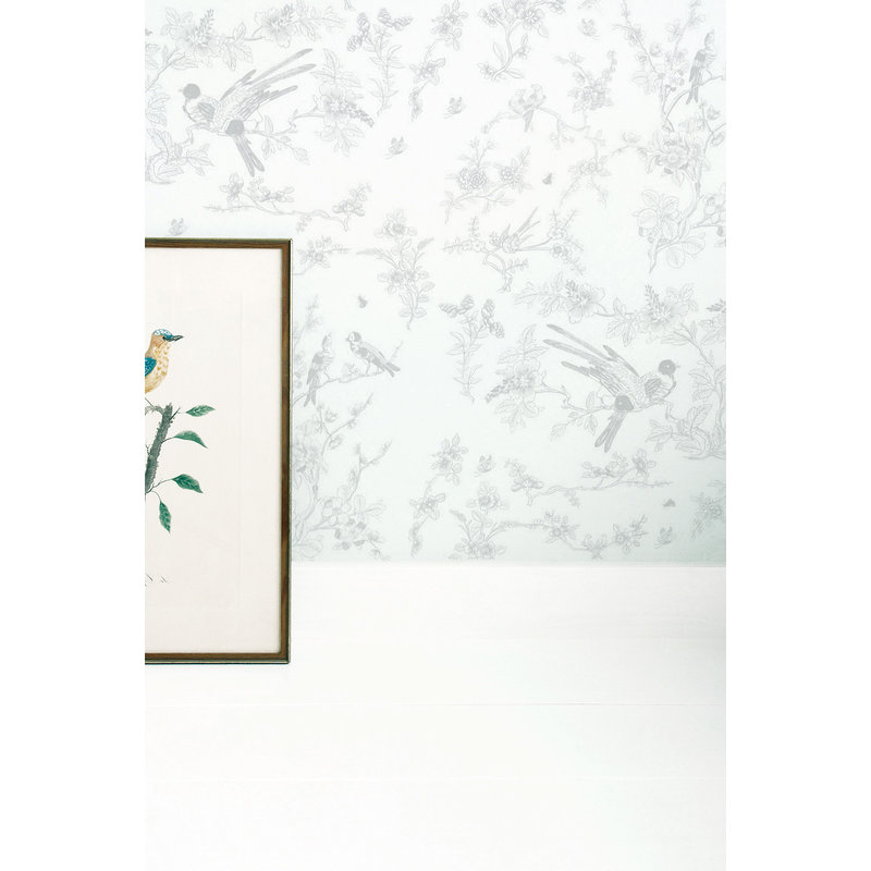 KEK Amsterdam-collectie Wallpaper Birds & Blossom, grey