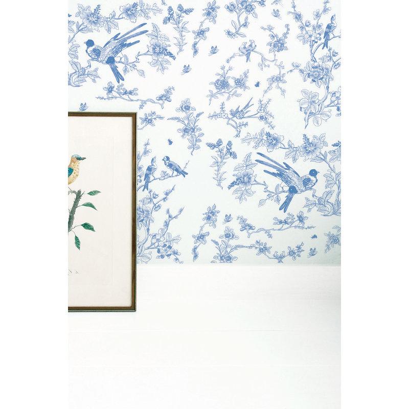 KEK Amsterdam-collectie Behang Birds & Blossom blauw